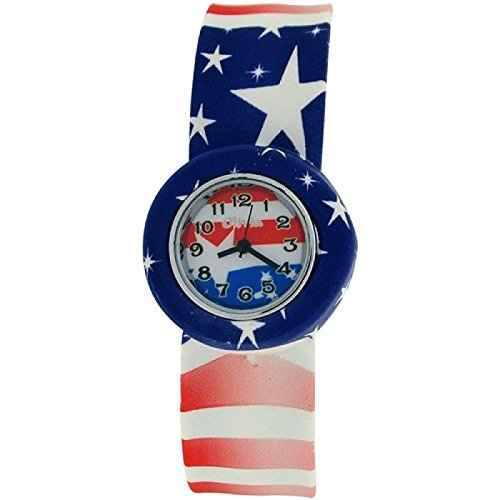 The Olivia Collection American Flag SLAP Uhr Silikon Armband mehrfarbig