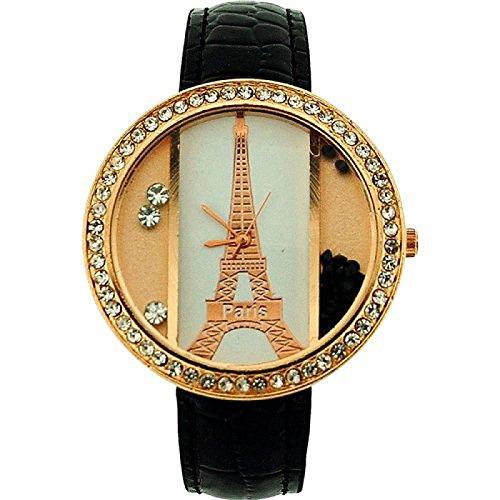 The Olivia Collection bl1021 01 Uhr fuer Frauen Kunststoff Armband Schwarz