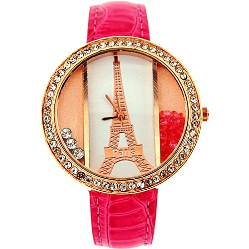 The Olivia Collection bl1021 04 Uhr fuer Frauen Kunststoff Armband Rosa