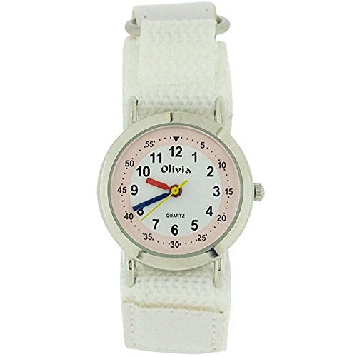 The Olivia Collection f1545 27white Uhr Textilband weiss