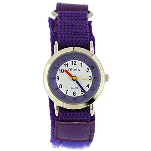 The Olivia Collection f1545 29purple Uhr Stoff Armband Violett