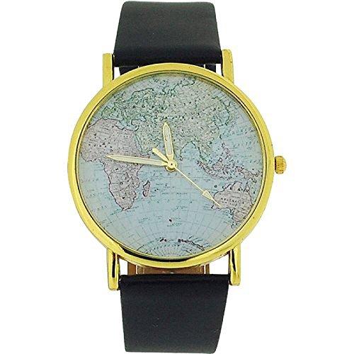 The Olivia Collection map01 Uhr Unisex Kunststoff Armband Schwarz