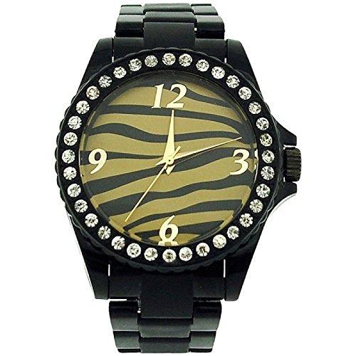 The Olivia Collection prw01 Uhr fuer Frauen Kunststoff Armband Schwarz