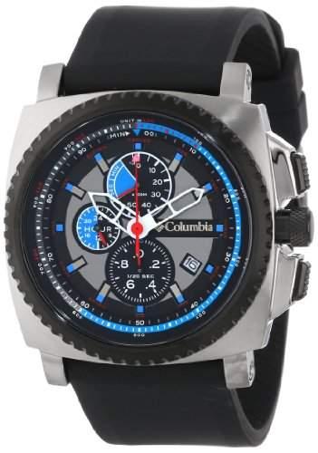 Columbia Herren CA100003 AQ Alti Square Analog Multi-Function Black Silicone Strap Uhr