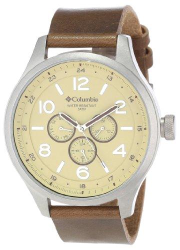 Columbia Herren ca015220 Skyline gross rund Analog braun Armbanduhr