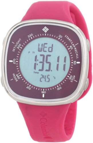 Columbia Damen CT001620 The Trailpoint Grey Digital Dial with Magenta Silicone Strap Uhr