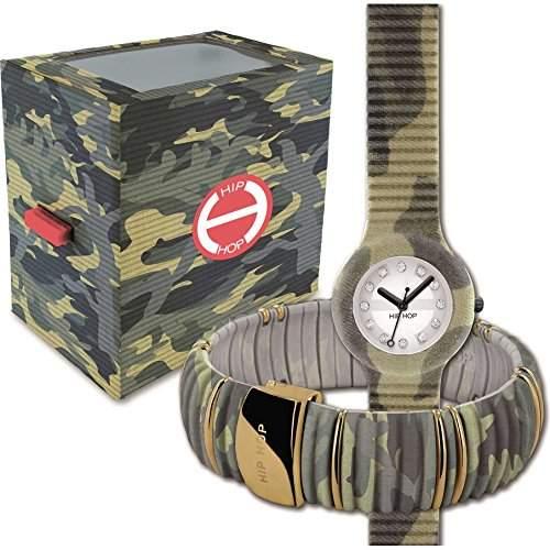 Box Set BREIL HIP HOP Uhren Limited Edition Damen CAMOUFLAGE - hk0036