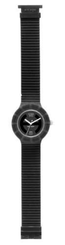 Hip Hop Damen-Armbanduhr Velvet - Black Analog Silikon schwarz HWU0146