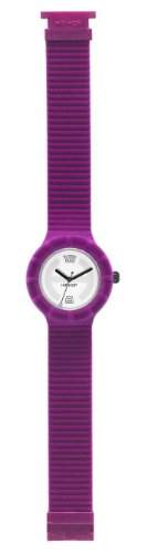 Hip Hop Damen-Armbanduhr Velvet - Fuchsia Analog Silikon HWU0149