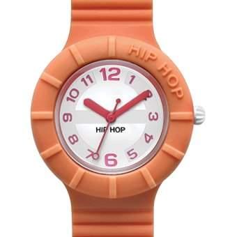 HIP HOP HWU0166 Numbers melone Uhr Kautschuk Kunststoff 30m Analog orange