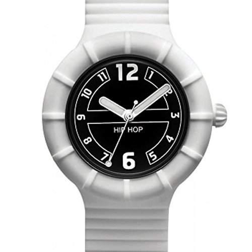 Hip Hop Uhr Armbanduhr Silikonuhr Numbers 40mm gruen HWU0169
