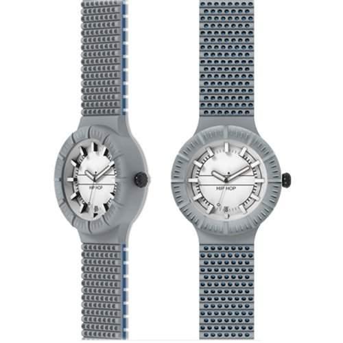 HIP HOP HWU0307 Gray waters Uhr Herrenuhr Kautschuk Kunststoff 30m Analog grau