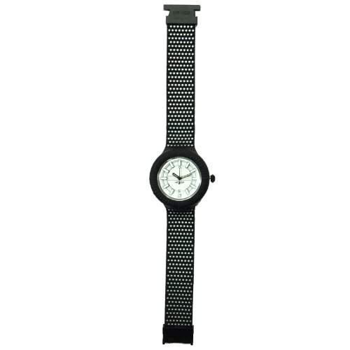 HIP HOP HWU0309 Man black tie Uhr Herrenuhr Kautschuk Kunststoff 30m Analog schwarz