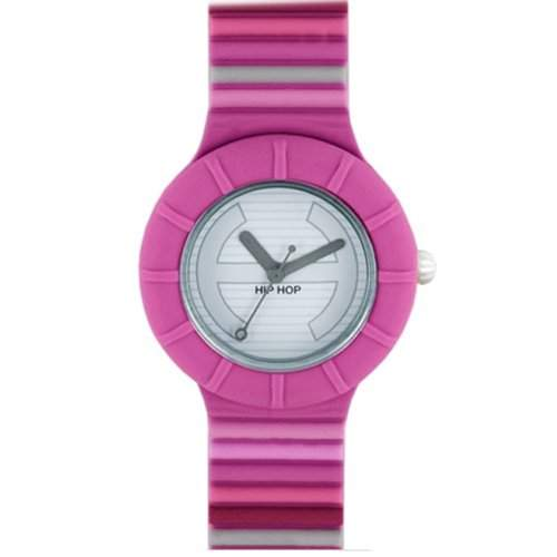HIP HOP HWU0342 Millerighe Uhr Kautschuk Kunststoff 30m Analog rosa