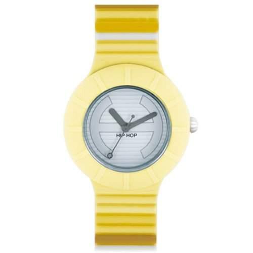 HIP HOP HWU0346 Millerighe Uhr Kautschuk Kunststoff 30m Analog gelb