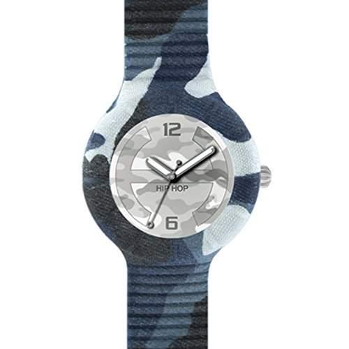 HIP HOP HWU0362 Camouflage Uhr Kautschuk Kunststoff 30m Analog grau