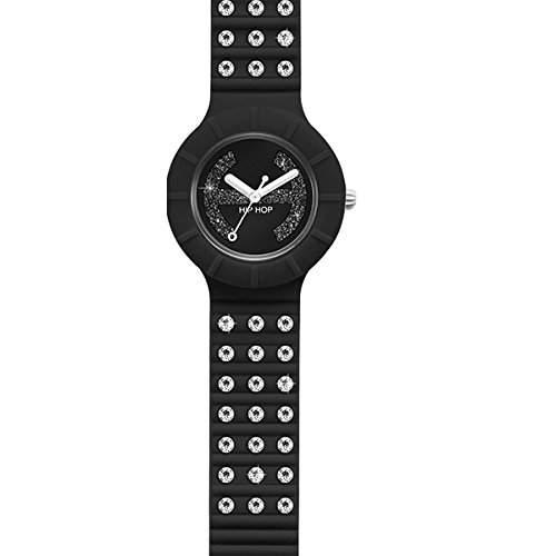 BREIL HIP HOP Uhren CRYSTAL Damen Uhrzeit Black Tie - HWU0484