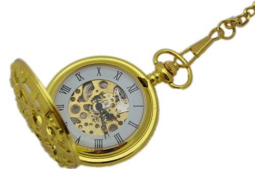 Koenigliche Taschenuhr mechanisch vergoldet K57