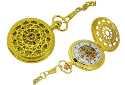 Sammler Taschenuhr mechanisch vergoldet Spnnen Netz K21