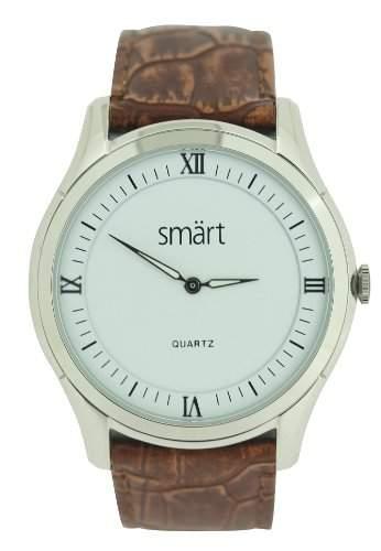 Smart Herren-Armbanduhr Analog Edelstahl weiss SMT03B