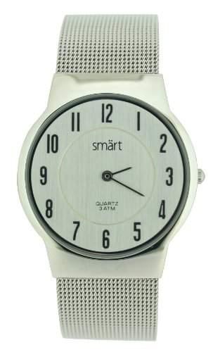 Smart Herren-Armbanduhr Analog Edelstahl Silber SMT07B