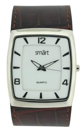 Smart Herren-Armbanduhr Analog Edelstahl weiss SMT11A