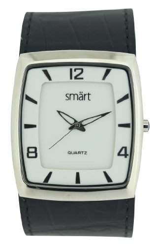 Smart Herren-Armbanduhr Analog Edelstahl weiss SMT11B