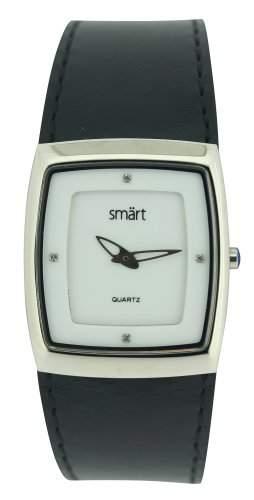 Smart Damen-Armbanduhr Analog Edelstahl weiss SMT12C