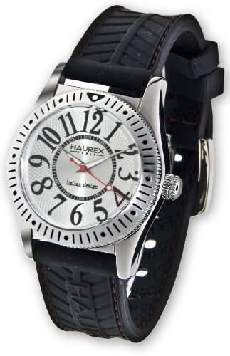 Haurex Italien Herren 1A331USS Versprechen drehbare Luenette Uhr