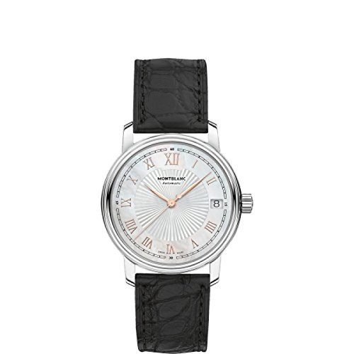 Montblanc Herren 114366 Schalter Stahl Quandrante Perlmutt Armband Leder