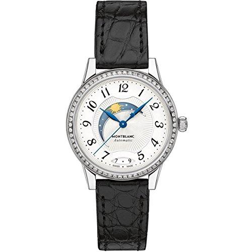 Montblanc Boheme Damen Armbanduhr Diamant 30mm Armband Aligatorleder Gehaeuse Edelstahl Automatik 114732