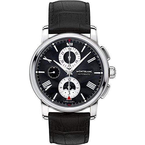 Montblanc 4810 Herren Armbanduhr 43mm Armband Aligatorleder Schwarz Gehaeuse Edelstahl Automatik 115123