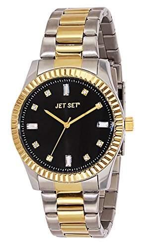 Jet Set Cool 59776-232-J Damen-Armbanduhr Alyce Quarz analog Armband Stahl, Bi-Color, schwarz