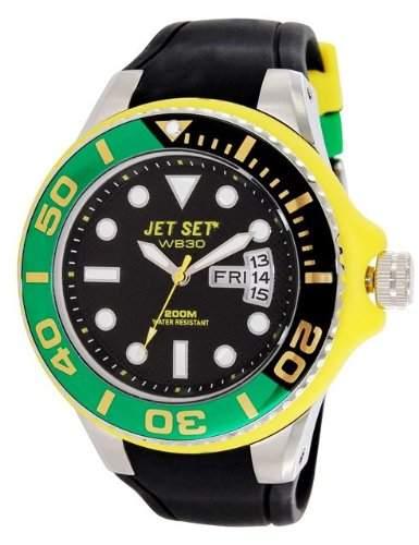 Jet Set-J55223-19-Wb30Diver-Armbanduhr-Quarz Analog-Zifferblatt schwarz Armband Kautschuk schwarz