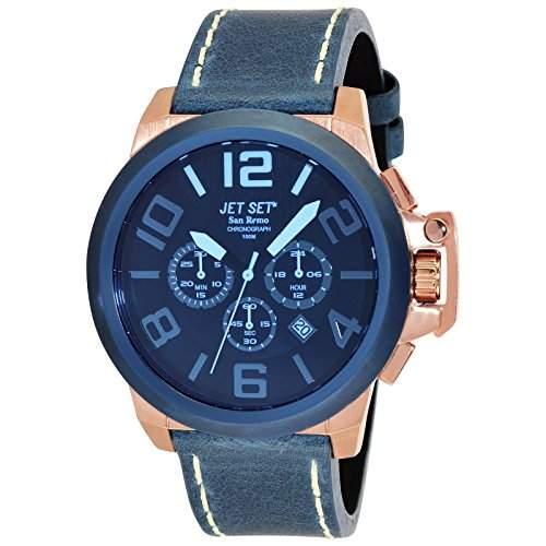 Jet Set Herren Chronograph San Remo blauroségoldfarben J6190R-367