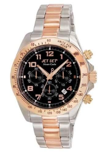 Jet Set Herren-Armbanduhr Monte Carlo Chronograph Quarz Edelstahl J6312R-232