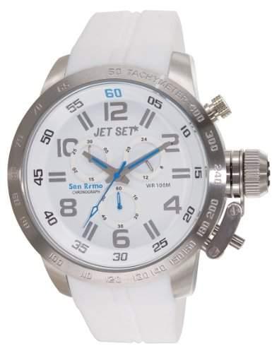 Jet Set Herren Chronograph San Remo weisssilber J67201-161
