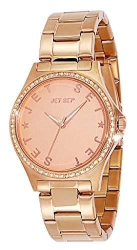 Jet Set-j7432r-062-Beverly Hills Damen-Armbanduhr-Quarz Analog-Zifferblatt Rosa Armband Stahl Rosa