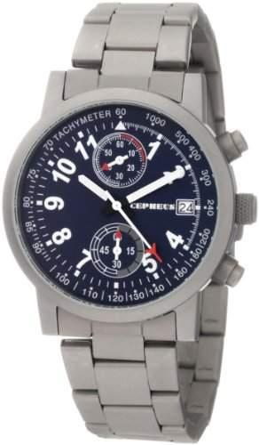 CEPHEUS CP505-131 Herrenchronograph Titanlook