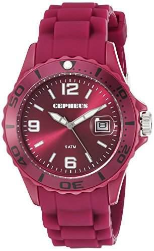 CEPHEUS Damen-Armbanduhr Analog Quarz Silikon CP603-044