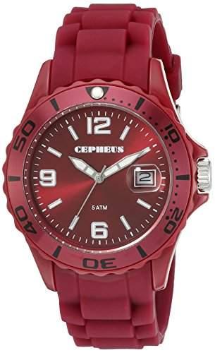 CEPHEUS Herren-Armbanduhr XL Analog Quarz Silikon CP603-044-1