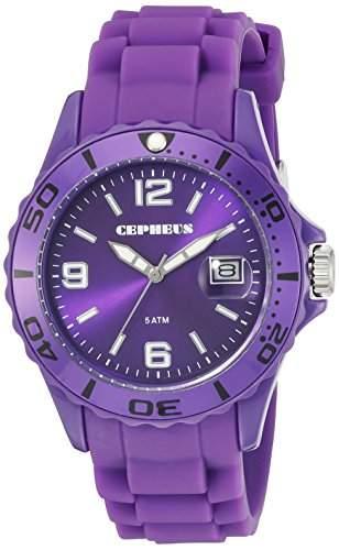 CEPHEUS Damen-Armbanduhr Analog Quarz Silikon CP603-090A