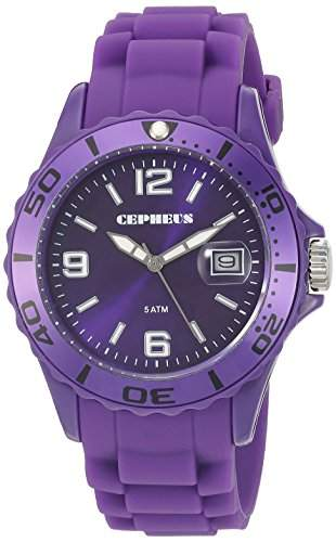 CEPHEUS Herren-Armbanduhr XL Analog Quarz Silikon CP603-090A-1
