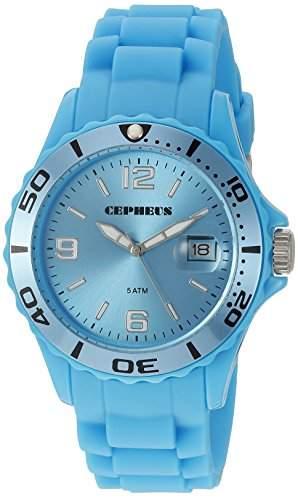 CEPHEUS Damen-Armbanduhr Analog Quarz Silikon CP603-090D