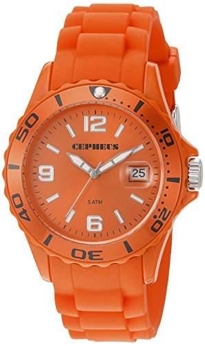 CEPHEUS Damen-Armbanduhr Analog Quarz Silikon CP603-090E