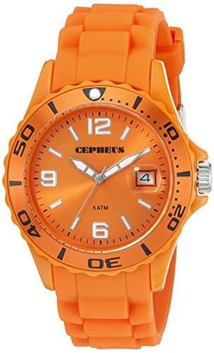 CEPHEUS Herren-Armbanduhr XL Analog Quarz Silikon CP603-090E-1