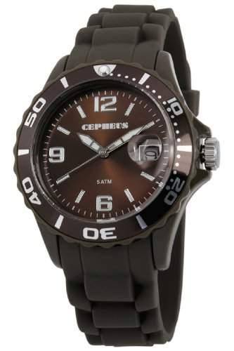 CEPHEUS Herren-Armbanduhr XL Analog Quarz Silikon CP603-095-1