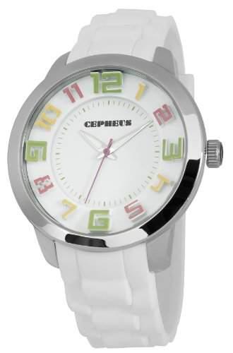 CEPHEUS Herren-Armbanduhr XL Analog Quarz Silikon CP604-186