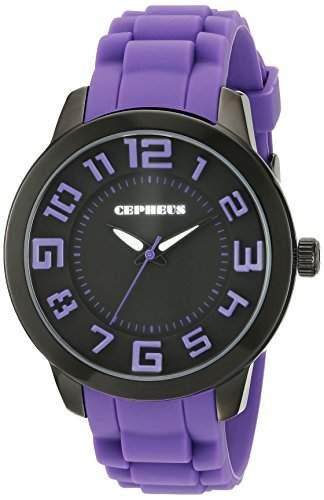 CEPHEUS Damen-Armbanduhr XL Analog Quarz Silikon CP604-620B