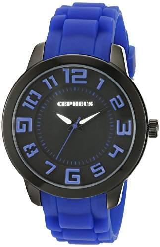 CEPHEUS Damen-Armbanduhr XL Analog Quarz Silikon CP604-623
